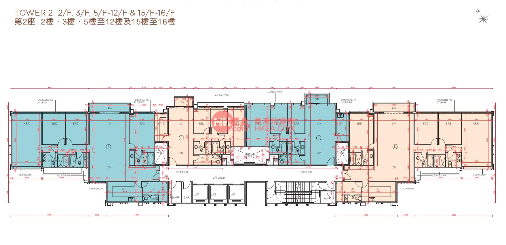 馬料水 海日灣II02座 02-16(ABCD)