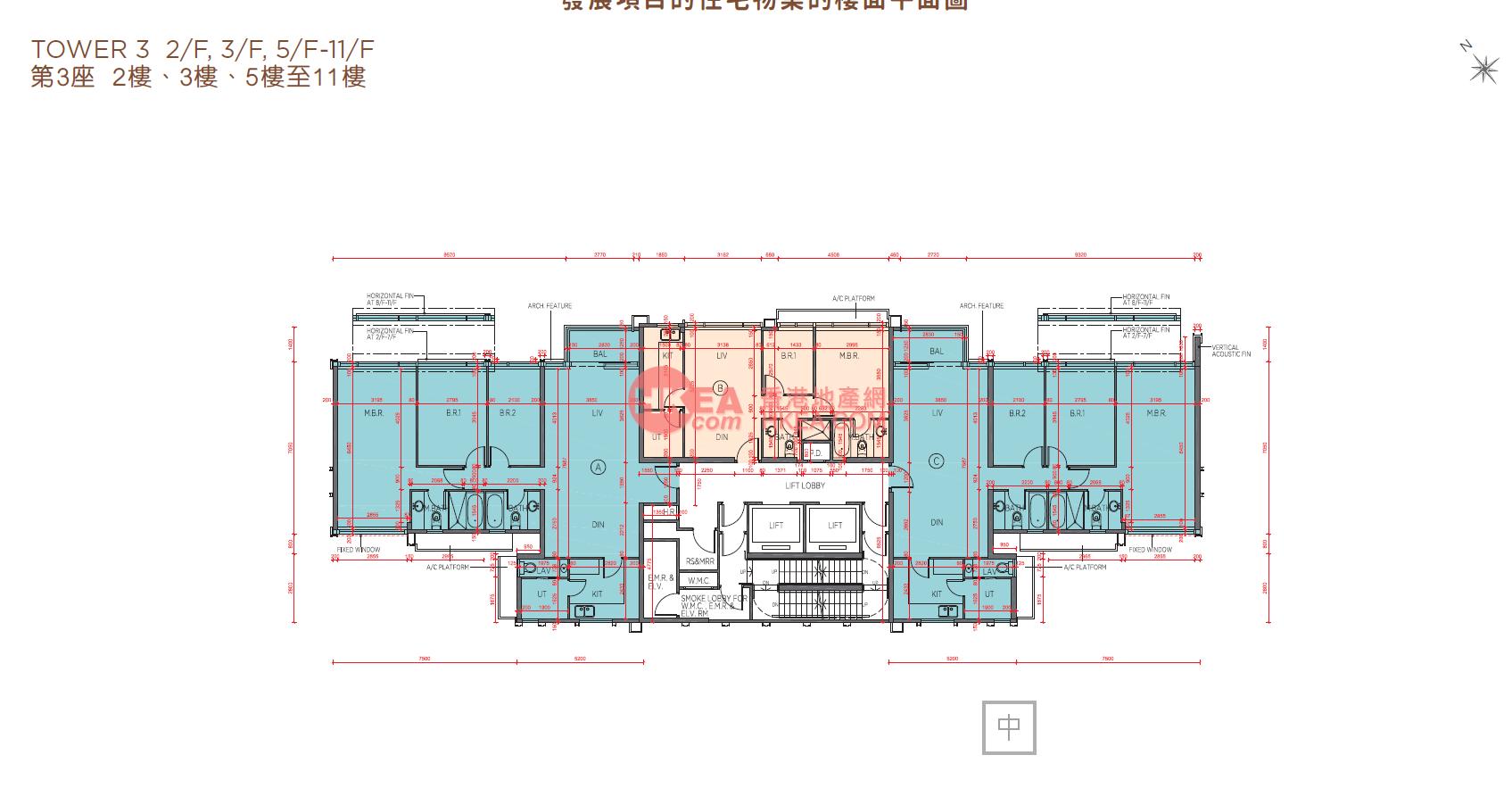 馬料水 海日灣II03座 02-11(ABC)