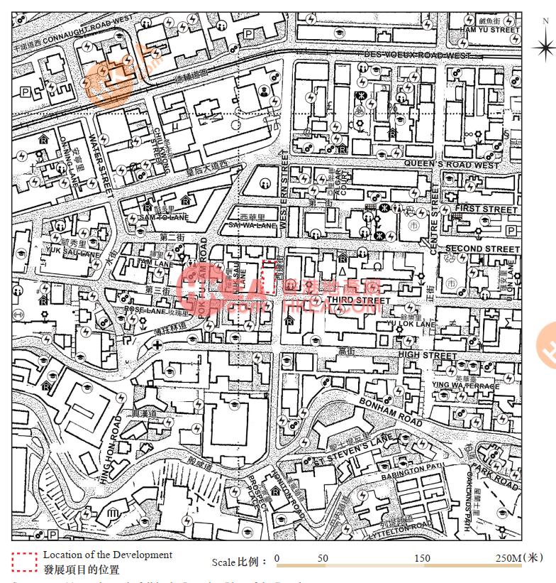 西營盤 15 WESTERN STREET位置圖
