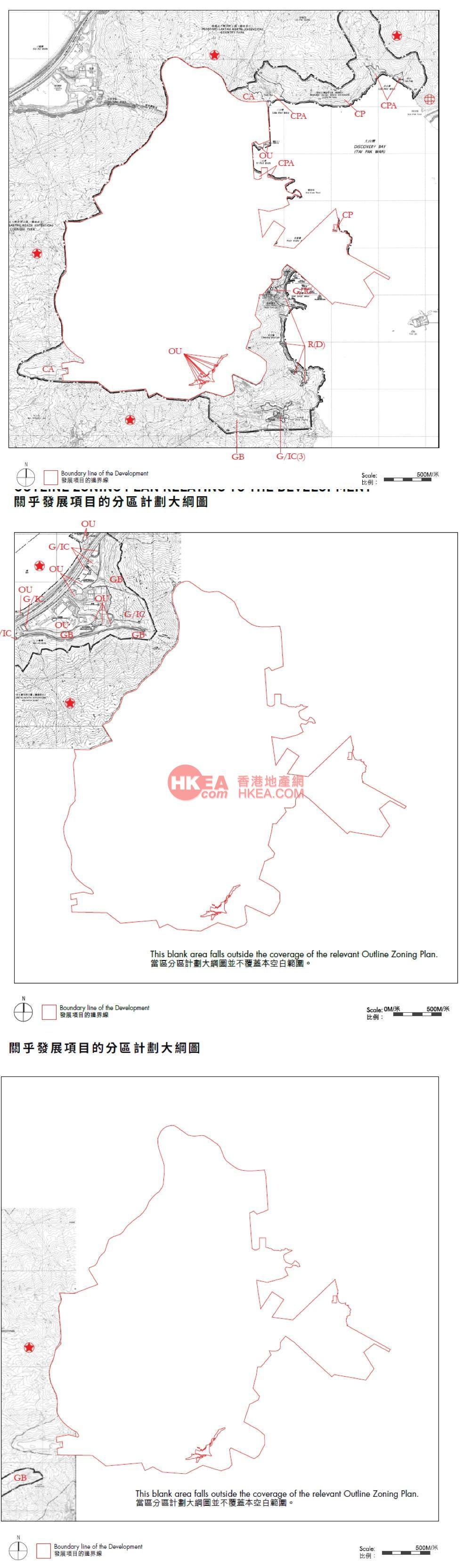 愉景灣 意峰規劃圖