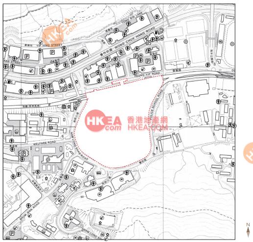 黃竹坑 晉環位置圖