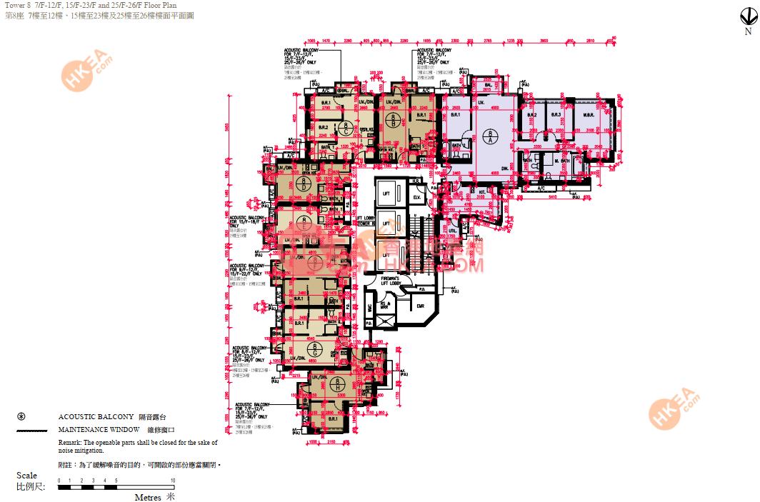 深水埗 匯璽III08座 07-26(ABCDEFGH)
