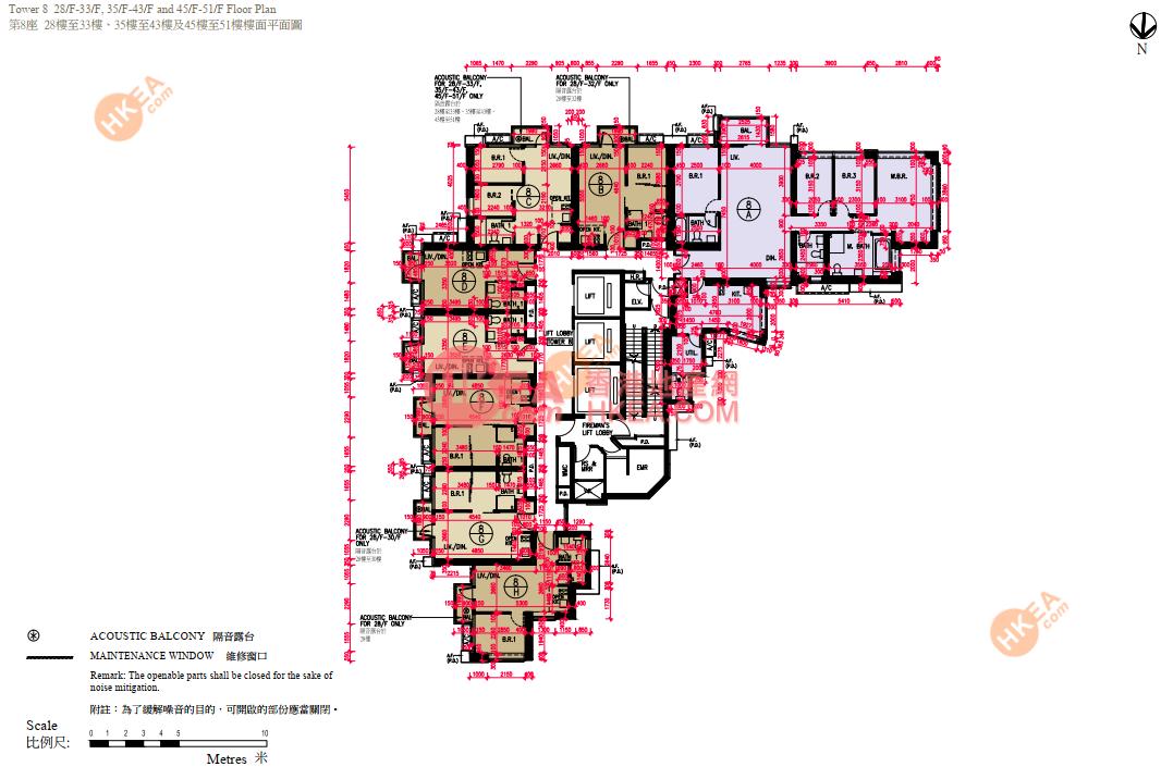 深水埗 匯璽III08座 28-51(ABCDEFGH)